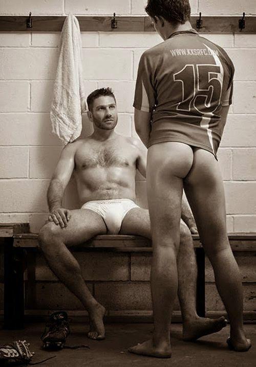 Locker-room gay enjoy blowing photo
