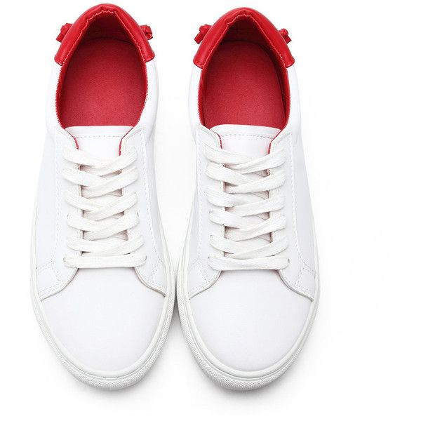 Yoins White Casual Leather Look Lace-up