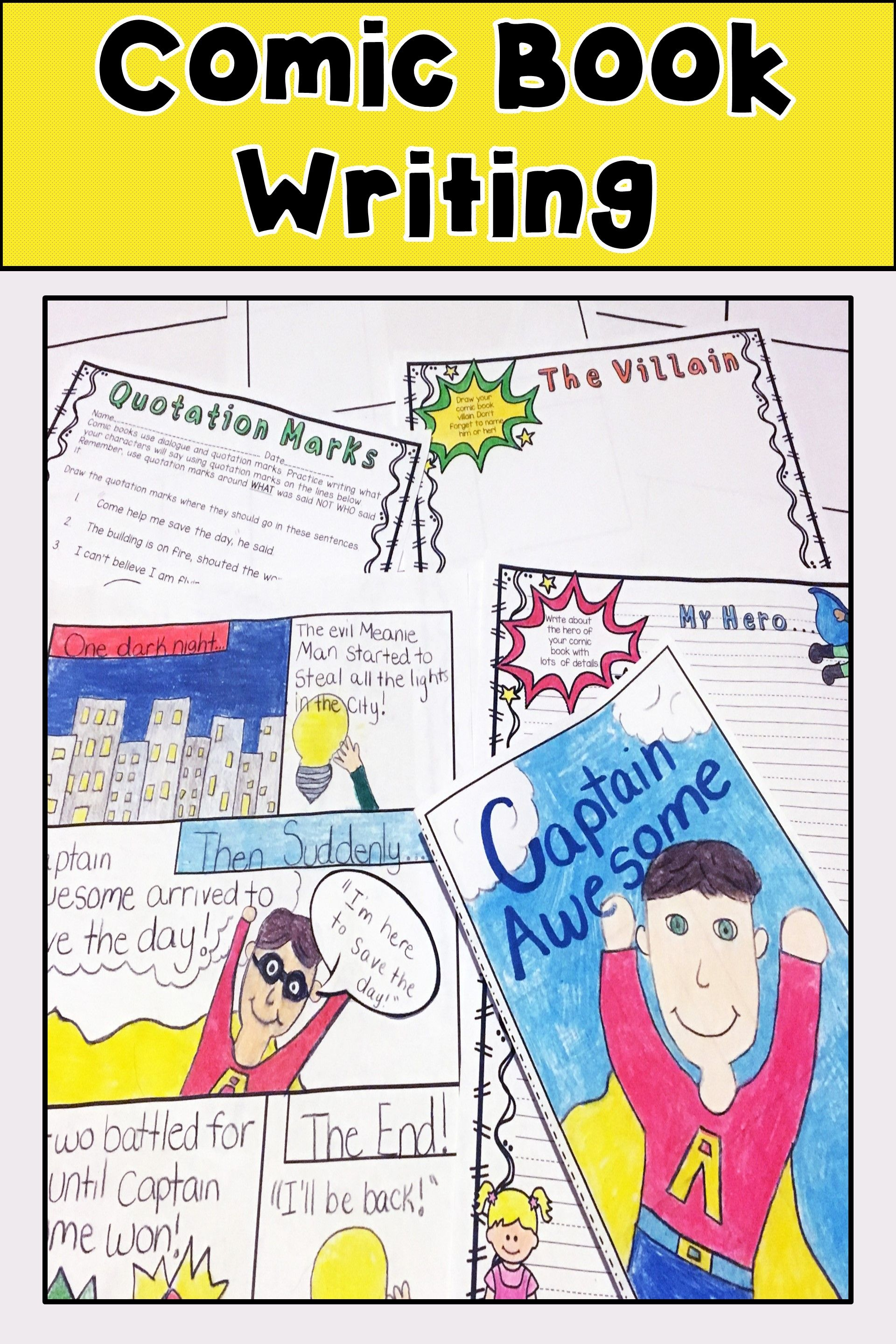 Comic Book Writing Activity And Templates  Quotation Mark