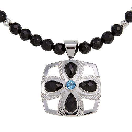 97f7f1e202e Mine Finds by Jay King Jay King Black Agate and Blue Topaz Pendant ...
