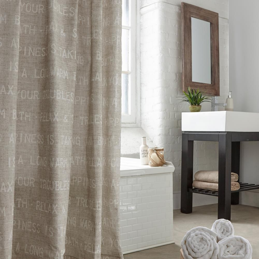 Meuble Salle De Bain Gb Moon ~ lino shower curtain shower curtains bath bed bath bouclair com