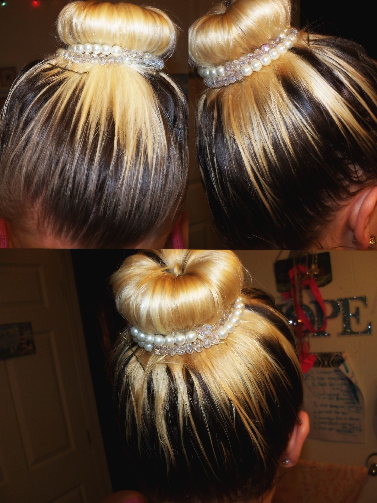 Ombre hair bun