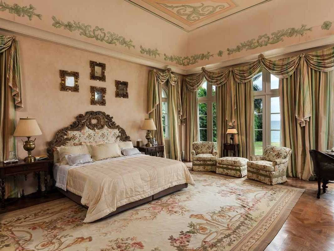 Master bedroom huge  HOUSE OF THE DAY Custombuilt oceanfront Palm Beach mansion with a