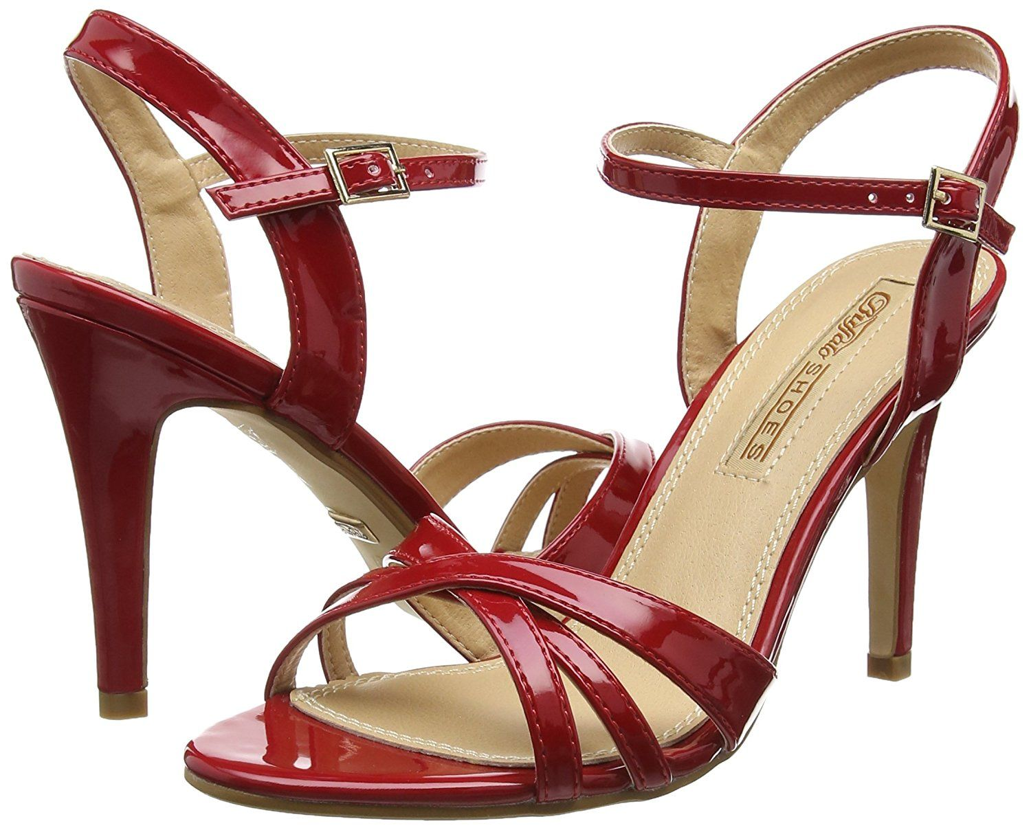 312703 Patent Pu, Womens Wedge Heels Sandals Buffalo