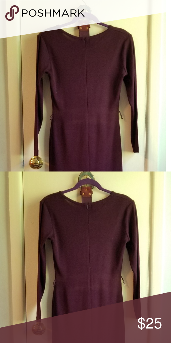 17d79f6dd3 Petite Sophisticate sweater dress. Plum colored acrylic and wool career to  wear belted with a cardigan or jacket. Petite Sophisticate Dresses