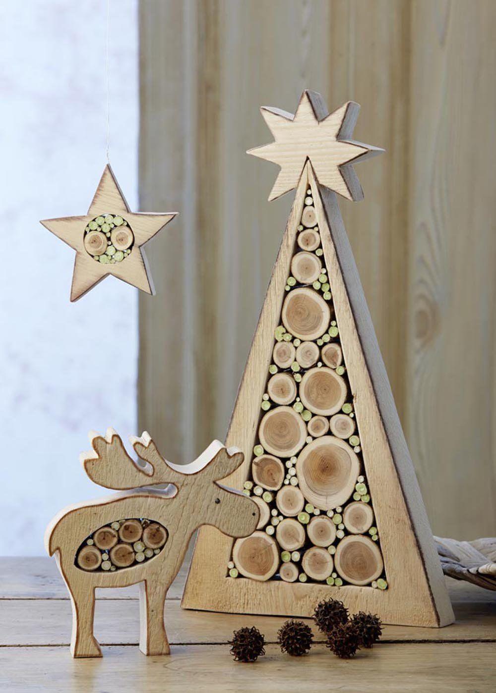 Deco Noel En Bois Naturel weihnachtsdeko aus holz: amazon.de: ingrid moras: bücher