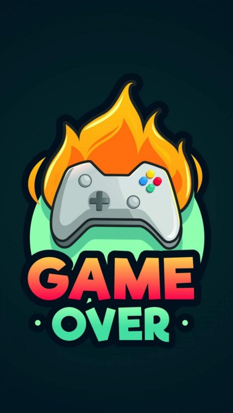 Game Over Minimalist Iphone Wallpaper Free Getintopik Minimalist Iphone Iphone Wallpaper Images Iphone Wallpaper