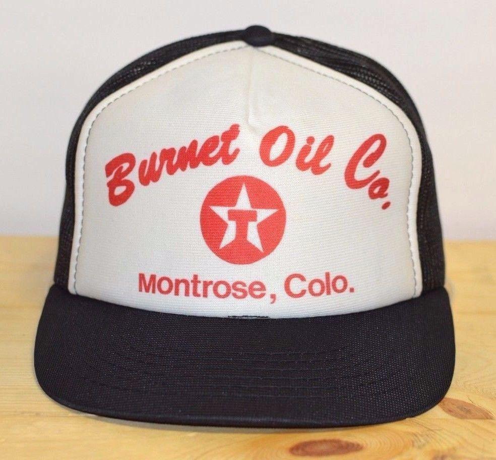 df806b55303 Vintage Trucker Hat Burnet Oil Company