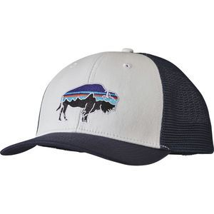 13847ce13d8df The Patagonia Fitz Roy Bison Trucker Hat tames your hair and keeps the sun  out of your eyes when you re roaming across the country.