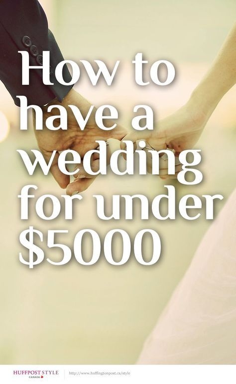 How to have a wedding for under $5000 http://huff.to/1kH1lV2 | Sarah ...