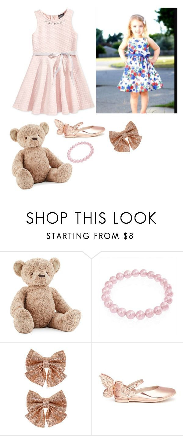 """Kids outfits #2"" by mbubbles109 ❤ liked on Polyvore featuring Jellycat, Bling Jewelry, Monsoon and Sophia Webster"