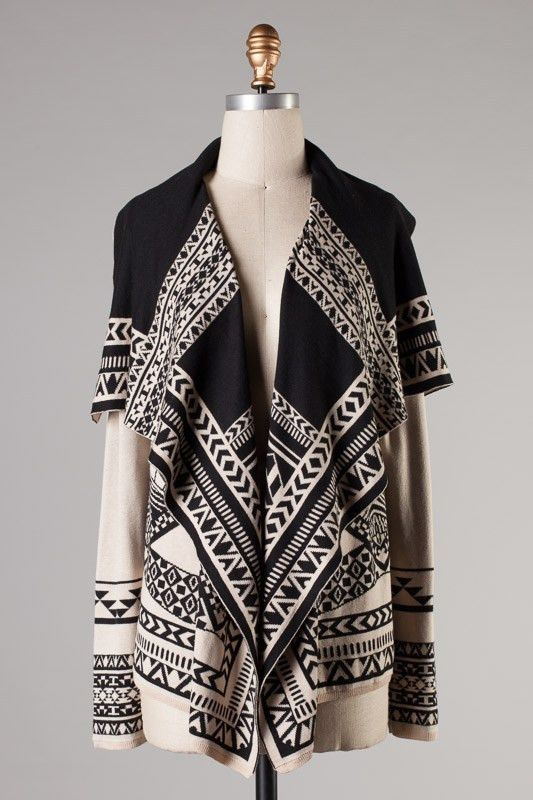 Amazing fall and winter Aztec Cardi Shop Southern Bliss for your fabulous fall outfits!  #southernblissboutiquefallcontest