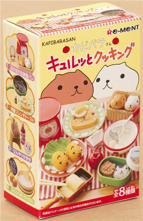 Kapibarasan cooking and eating Re-Ment miniature blind box