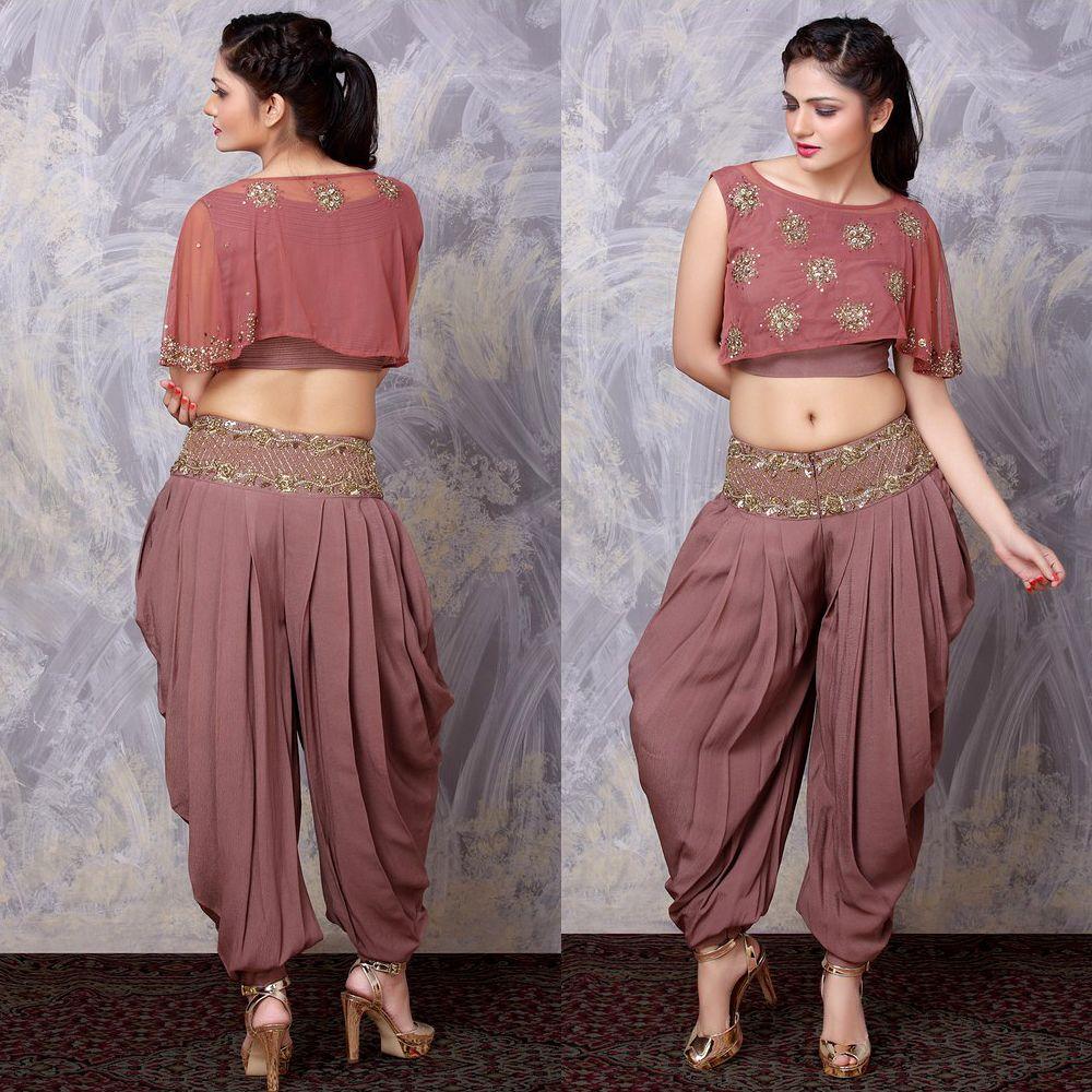 6cf8febae8ad nidhibhansali Crop Top With Dhoti Pants | Gagan | Dhoti salwar suits ...