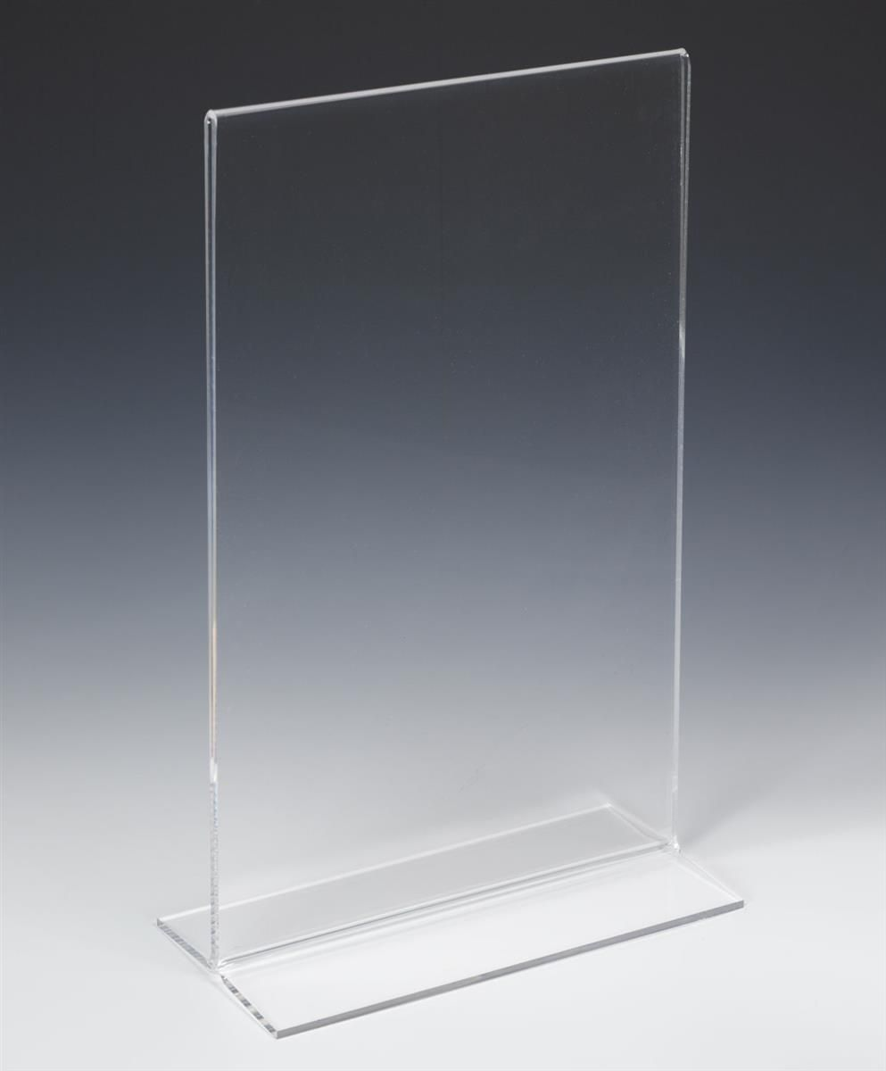 Workshop Series 11 X 17 Acrylic Sign Holder Bottom Insert T Style Clear In 2020 Sign Holder Acrylic Sign Acrylic Panels