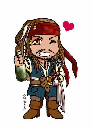 Cute jack famosi pirati dei caraibi capitano jack sparrow e