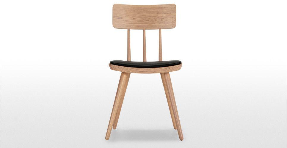 2 x kitson chaises frêne naturel et noir