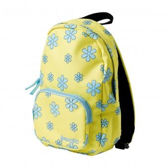 Brownie Yellow Purse with the Brownies logo and flower design