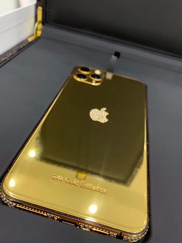 24k gold latest iphone 11 pro max with diamond crystal