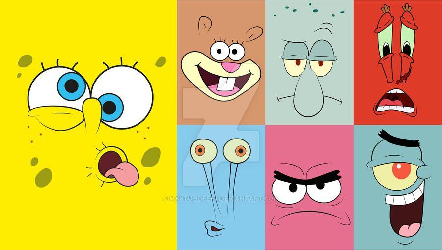 Personajes Bob Esponja By Mystupidfeet Bob Esponja Dibujos De
