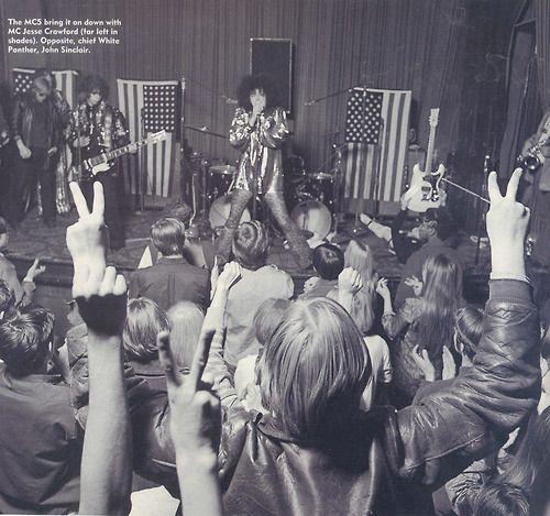 """theswinginsixties:  The MC5 live, 1968.  """