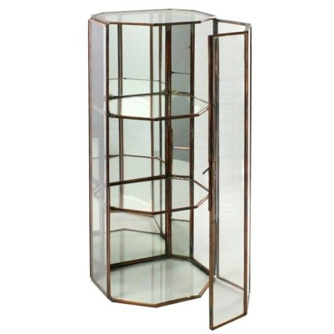 Leaded Glass Curio Cabinet   HomArt