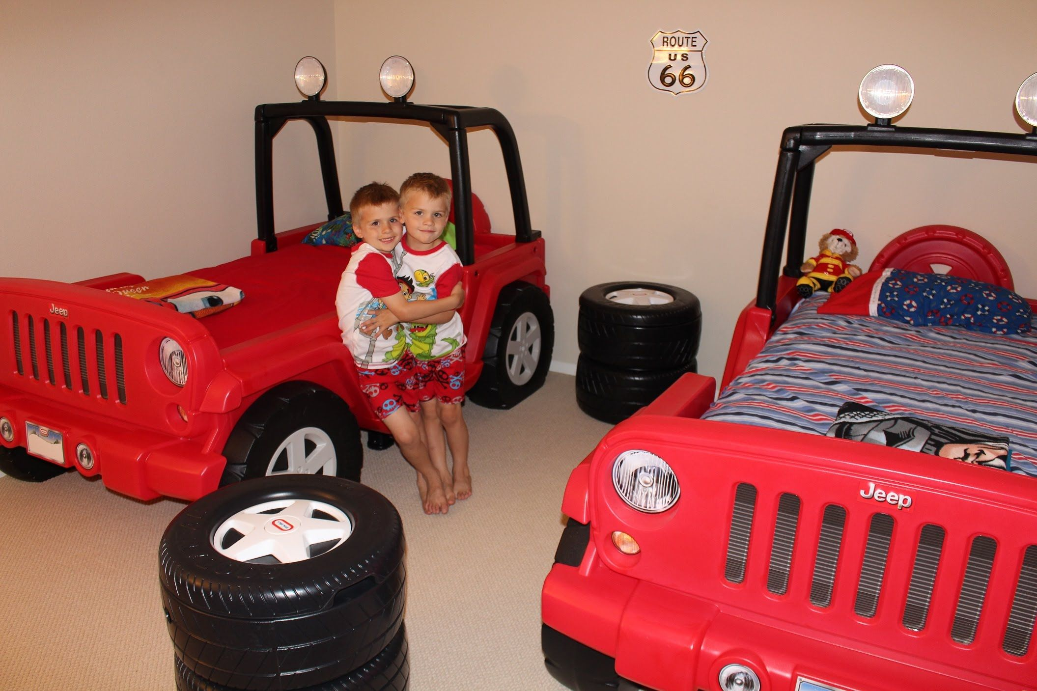 Twins New Little Tikes Jeep Beds Jeep Bed Kids Bedroom Boys Toddler Baby Nursery Design