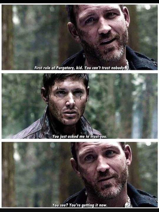 Supernatural trust issues.... and BENNY!!!! Miss Benny...