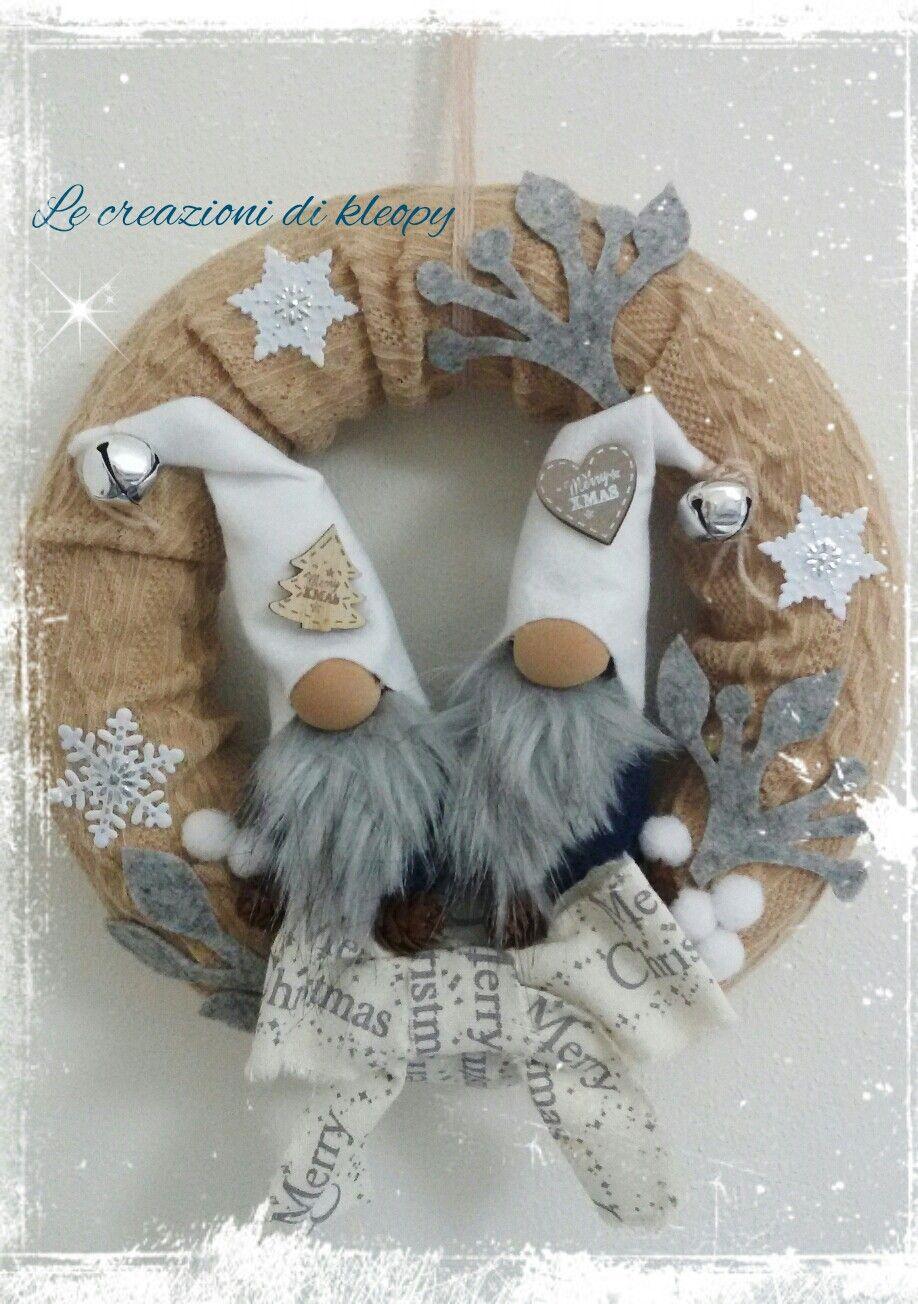 Photo of Ghirlanda natalizia gnomi natalizi colori squallidi creazioni kleopy