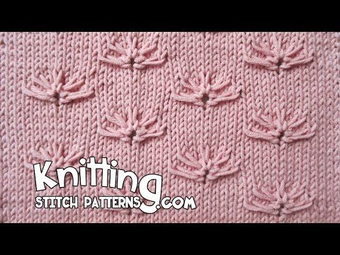 Trellis Stitch Youtube Knit Pinterest Knitting Flower And