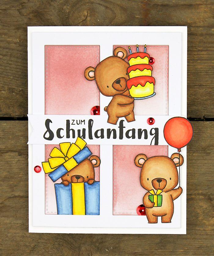 wieesmirgefaellt.de   Bärige Glückwünsche - Beary wishes   My Favourite Things Beary Special Birthday   Copic Aquarell Watercolor