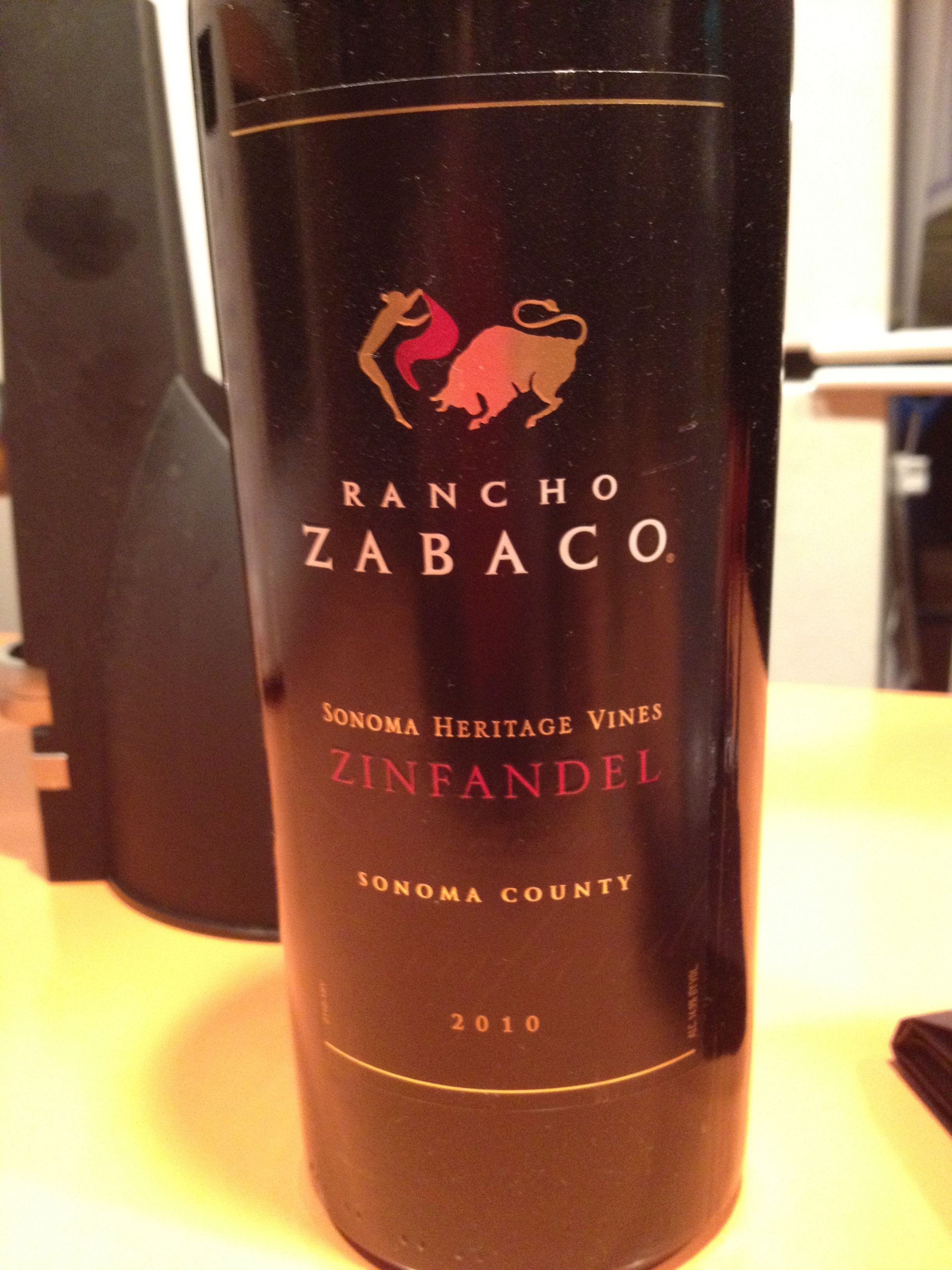 Nice Zin Smooth Yet Bold 2010 Rancho Zabaco Favorite Wine Wine Bottle Zinfandel