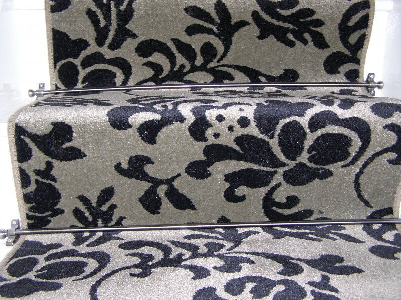 Best Florence Wilton Sage And Black Stair Runner Carpet 400 x 300