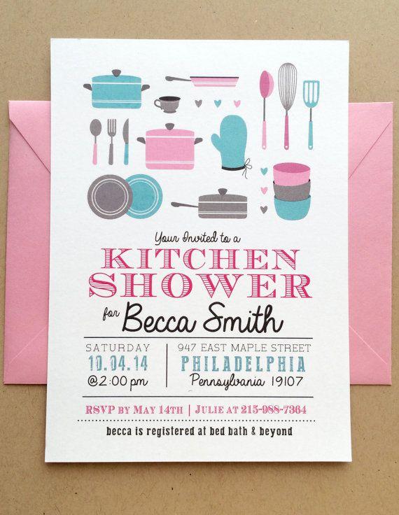 Bridal Shower Invitation  Kitchen Shower by SideStreetDesigns, $19.00