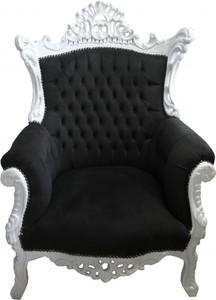 Casa Padrino Baroque Armchair Al Capone Black White Antique Style Luxury Dining Chair Baroque Chair Baroque Furniture