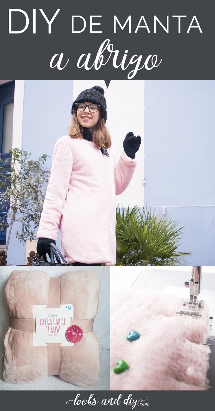 5069d69b3c8ae DIY BLANKET TO COZY COAT ~ Cómo hacer un abrigo de una manta paso a paso