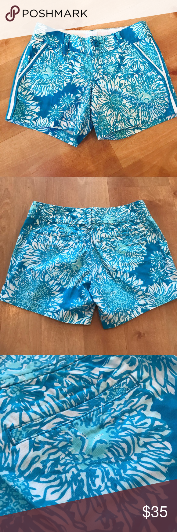 7adfc10686d63c Lilly Pulitzer Size 000 Callahan Shorts Excellent condition. Marked as XXS  since 000 isn't an option! 💙 Lilly Pulitzer Shorts