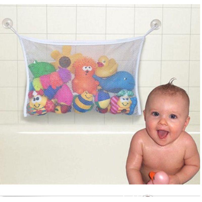 Bathroom Storage Bag Kids Baby Bath Tub Toy Tidy Storage Suction Cup ...
