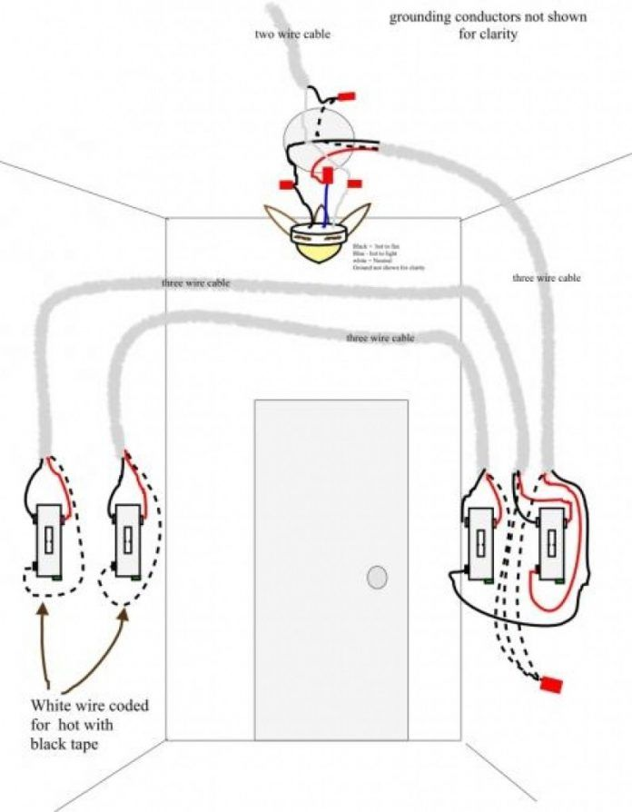 Wiring Diagram For 3 Way Switch Ceiling Fan Wiring Diagram