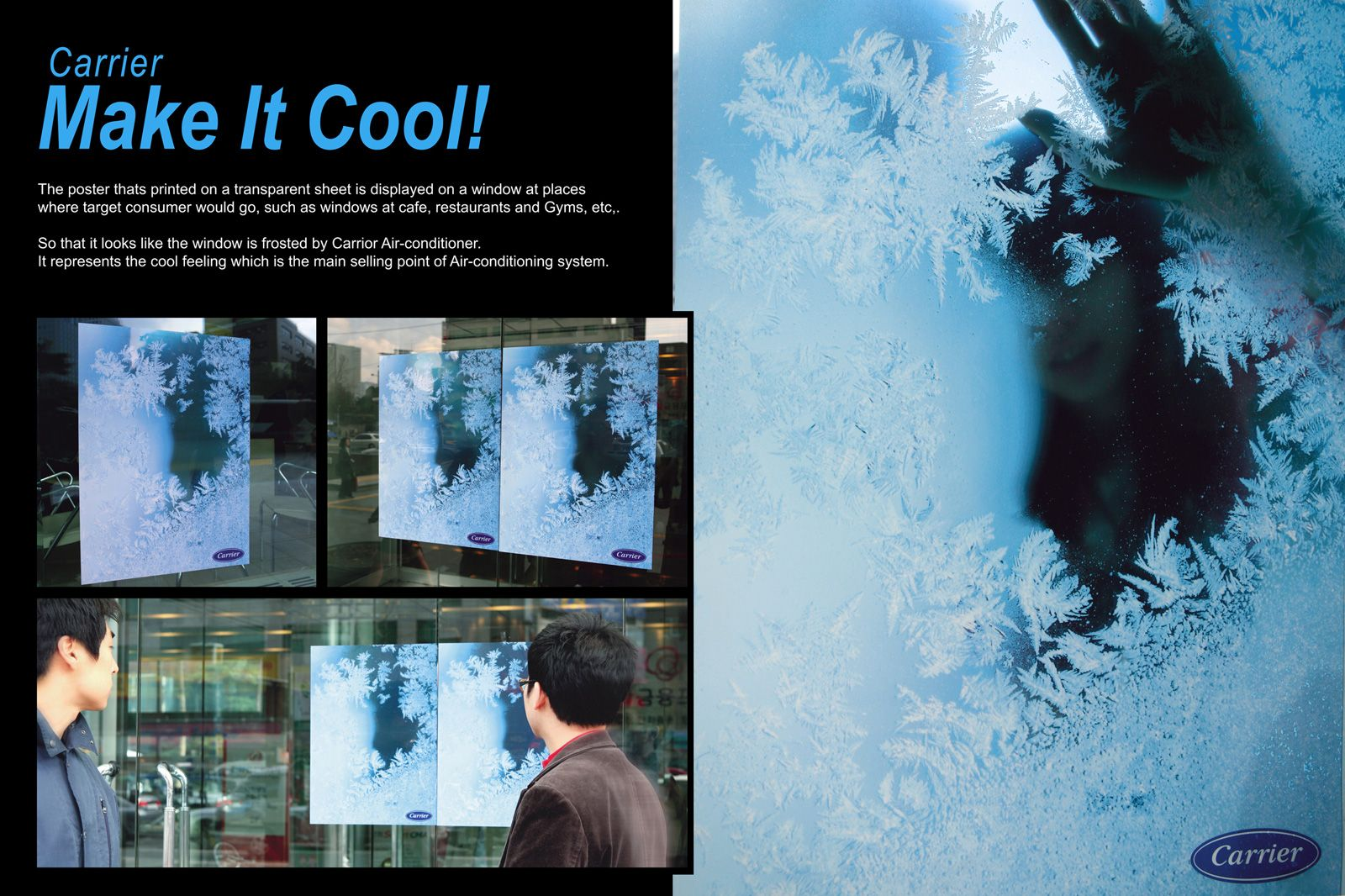 Awesome Advertisement Poster For Air Conditioning Guerrilla Advertising Cool Stuff Transparent