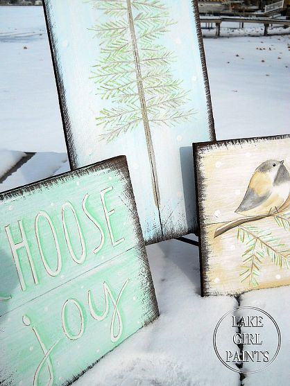 How to Paint a Rustic Winter Art Group