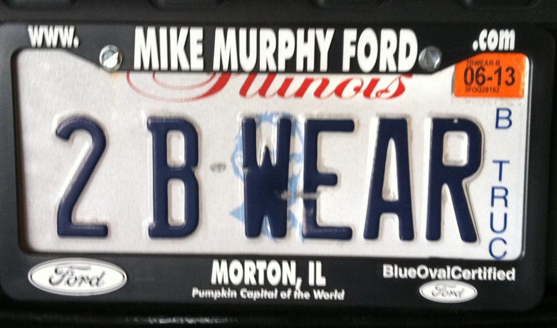 Beware! License plate, Plates
