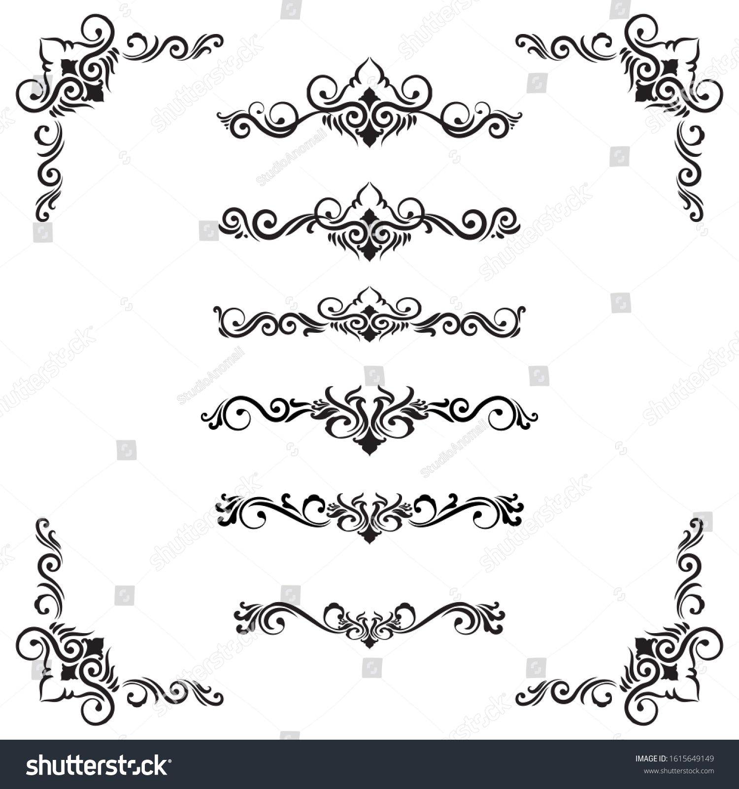 Classic Ornament Frame Vintage Border Stock Vector Royalty Free 1615649149 In 2020 Ornament Frame Vintage Borders Chinese Patterns