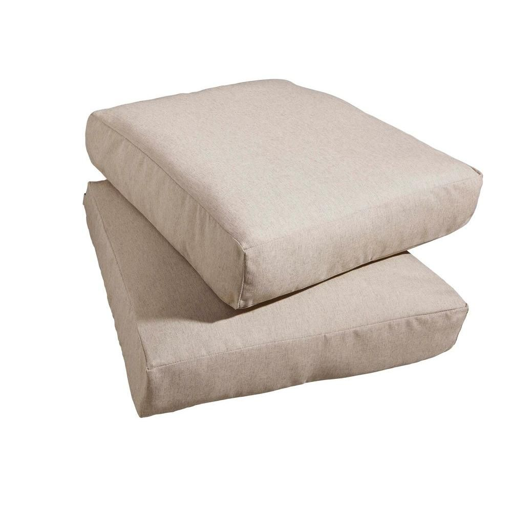 Hampton Bay Marshall Replacement Outdoor Chair Cushion (2 Pack) HD14310 At  The Home Depot