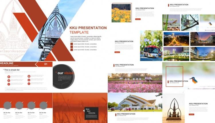ฟร เทมเพลต Kku1 Free Powerpoint Template Kku1 Powerpoint Hub สต กเกอร พ นหล ง