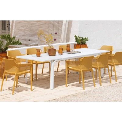 Style Of The Nardi Net 9 Piece Dining Set is the newest edition to our range featuring the stylish Net chair and the Alloro extension table which allows you to New Design - Popular fancy dining table set For Your Plan