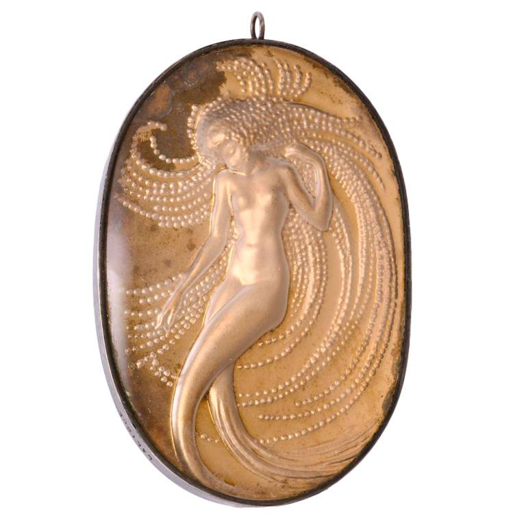RENE LALIQUE - NAIADE Mirror Pendant | From a unique collection of vintage more necklaces at http://www.1stdibs.com/jewelry/necklaces/more-necklaces/