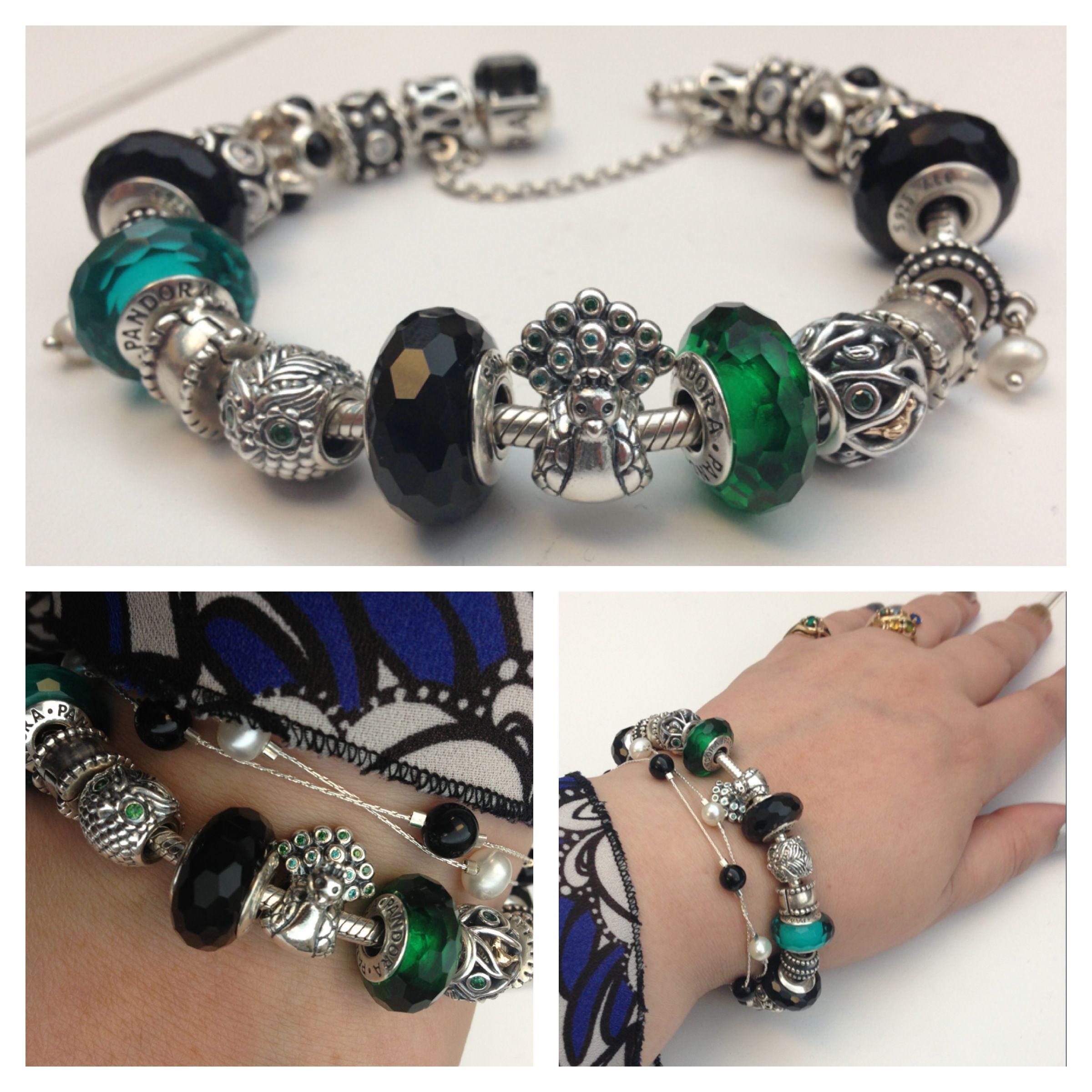 Pandora Charms Bracelets: My Peacock Themed Pandora Bracelet. @Pandora_NA #Pandora