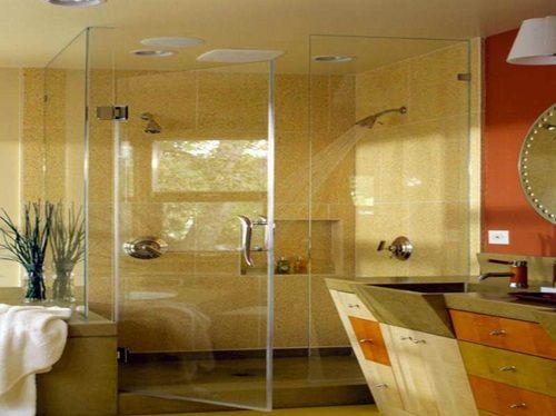Elegant Glass Bathroom Door Designs  Bathroom Cabinets Mesmerizing Small Bathroom Door Decorating Inspiration