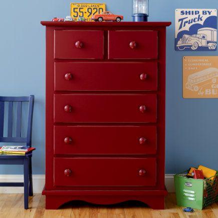 Nice Red Kids Dresser